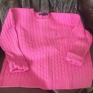 Ralph Lauren Sport Vintage Cable knit sweater Sz L